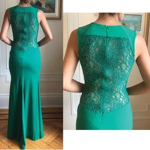 Flavio Castellani emerald green dress prom wedding